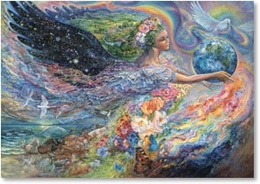 Blank Card with Quote / Saying - Earth Angel | Josephine Wall | 3_2002412-P | Leanin' Tree