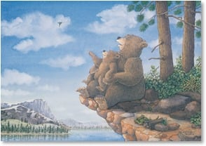 Father's Day Card - Papa Bear; 1 Thessalonians 3:9 | Jeffrey Severn | 3_2002607-P | Leanin' Tree