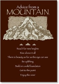 Blank Card - Advice from a Mountain | Your True Nature&amp;reg; | 3_2002639-P | Leanin' Tree