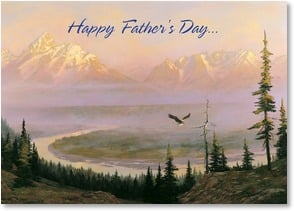 Father's Day Card - To a Dad who's as Grand as the Rockies! | Hermon Adams | 3_2003432-P | Leanin' Tree