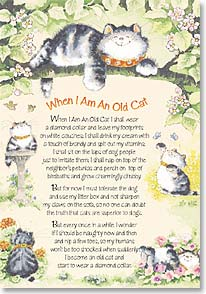 Birthday Card - When I Am An Old Cat | Margaret Sherry | 40068 | Leanin' Tree