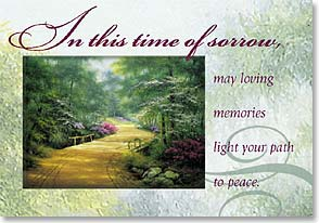 Sympathy Card - May Loving Memories Light Your Way | Egidio Antonaccio | 40122 | Leanin' Tree