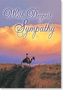 Sympathy Card - It's not the end of the trail...remembering with you... | Robert Dawson | 40700 | Leanin' Tree