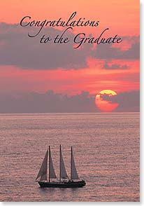 Graduation Card - Your horizons are looking bright! | Fotosearch | 40702 | Leanin' Tree