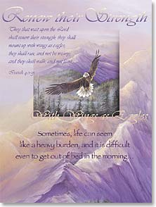 Encouragement & Support Card - Sometimes, life can seem like a heavy burden; Isaiah 40:31 | Larry K. Martin | 41098 | Leanin' Tree