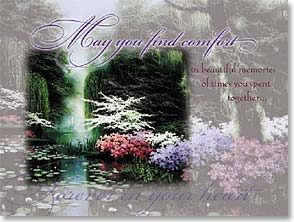 Sympathy Card - Comfort in Beautiful Memories | Egidio Antonaccio | 41274 | Leanin' Tree