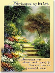 Birthday Card - Staff Pick - Scripture | Gods Abundant Blessings For You | Egidio Antonaccio | 41291 | Leanin' Tree