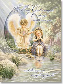 Thinking of You Card - May God's angels bless you. Thinking of You | Dona Gelsinger | 41311 | Leanin' Tree