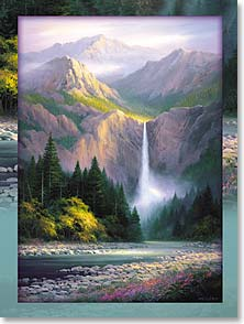 Blank Card - Staff Pick - Hidden Falls of the Rocky Mountains | Charles H. Pabst | 41440 | Leanin' Tree