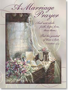 Wedding Card - Wedding Prayers and Blessings | Kathy Fincher | 41551 | Leanin' Tree