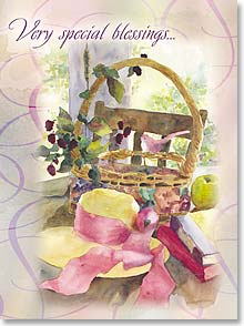 Birthday Card - Basket of Dreams; Isaiah 30:29 | Judy Buswell | 41793 | Leanin' Tree