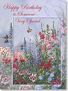 Birthday Card - Staff Pick - Scripture | Birthday Prayer for Someone Special | Wanda Mumm | 41839 | Leanin' Tree