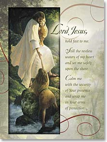 Encouragement & Support Card - Hold Fast To Me; Isaiah 41:13 | Greg Olsen | 41852 | Leanin' Tree