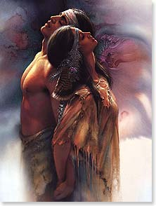 Love & Romance Card - With you, my world becomes heaven and my heart is full. | Lee Bogle | 43172 | Leanin' Tree