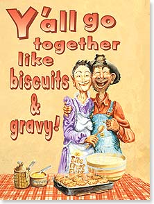Anniversary Card - Recipe for Biscuits & Gravy... | Boots Reynolds | 43363 | Leanin' Tree