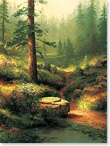 Sympathy Card - Staff Pick - Beauty of the Woods During Difficult Time | Thomas Kinkade | 43378 | Leanin' Tree