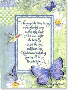 Birthday Card - Scripture | Who Taught The Birds To Sing - 43564 | Leanin' Tree