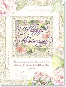Anniversary Card - When God Frames a Marriage | Audrey Jeanne Roberts | 43567 | Leanin' Tree