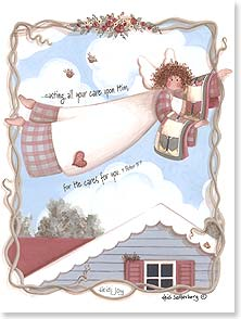 Praying For You Card - God's Care: Peter 5:7 | Heidi Satterberg | 43572 | Leanin' Tree