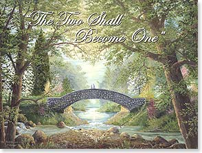 Wedding Card - Scripture | Two Shall Become One | Jack  E. Dawson | 43577 | Leanin' Tree