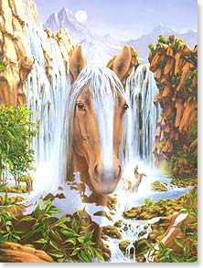 Birthday Card - Camouflauged Horses For Your Birthday | Steve Kushner | 43639 | Leanin' Tree