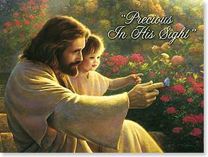 Loving Thoughts Card - Precious In His Sight | Greg Olsen | 43791 | Leanin' Tree