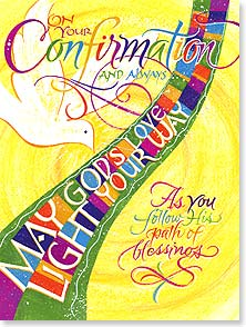 Confirmation Card - God's Love: 2 Corinthians 13:14 | Holly V. M. Monroe | 43803 | Leanin' Tree