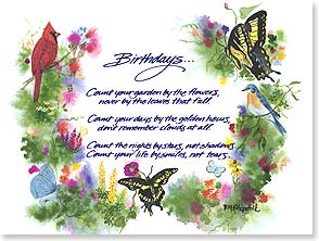 Birthday Card - Count Your Age by Friends, Not Years | Paula M. Fitzpatrick | 43894 | Leanin' Tree