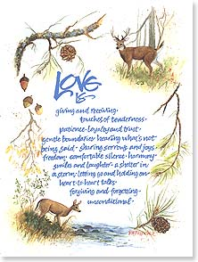Love & Flirts Card - Love is...seeing miracles together. | Paula M. Fitzpatrick | 43937 | Leanin' Tree