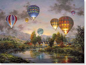 Birthday Card - Beautiful Wishes Floating Your Way | Nicky Boehme | 44231 | Leanin' Tree
