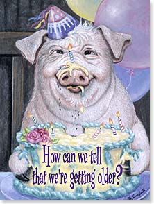 Birthday Card - By the hair on our chinny-chin-chins! Happy Birthday | Joy Campbell | 44244 | Leanin' Tree