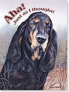 Birthday Card - The ol' hound dog's made it another year! Happy Birthday | Larry K. Martin | 44259 | Leanin' Tree