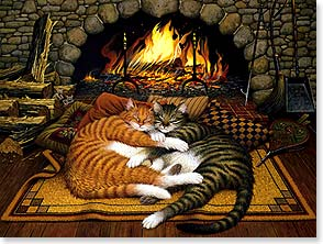 Loving Thoughts Card - Thoughts of you make me feel warm and fuzzy all over. | Charles Wysocki | 44331 | Leanin' Tree