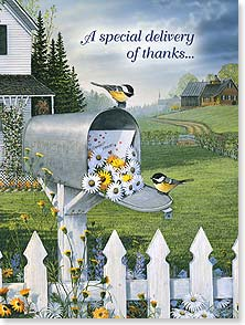 Thank You & Appreciation Card - Special Delivery of Thanks | Sam Timm | 44348 | Leanin' Tree