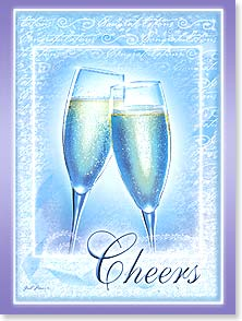Wedding Card - A toast to you and the love you share! | Gail Marie&amp;reg; | 44392 | Leanin' Tree