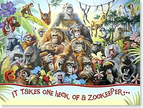 Father's Day Card - One Heck Of A Zookeeper | D. L. Rust | 44710 | Leanin' Tree