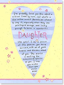Birthday Card - Daughter - I love you more than you could know. | Ronnie Walter | 44721 | Leanin' Tree