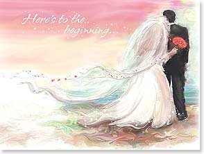 Wedding Card - Here's to the beginning of your 'happily ever after.' | Connie Haley | 44730 | Leanin' Tree