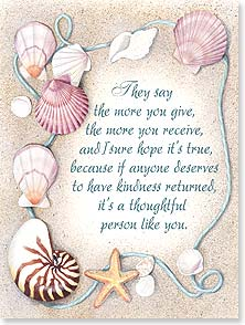 Thank You & Appreciation Card - If anyone deserves to have a kindness returned, it's you. | Nancy Kaestner | 44779 | Leanin' Tree