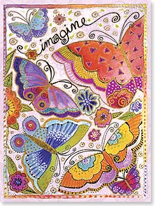 Birthday Card - Imagine a world of love, beauty and kindness... | Laurel Burch™ | 44844 | Leanin' Tree