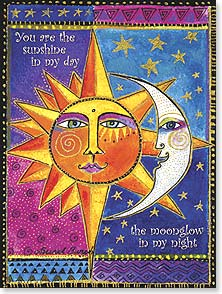 Love & Romance Card - You are the center of my universe. | Laurel Burch™ | 44849 | Leanin' Tree