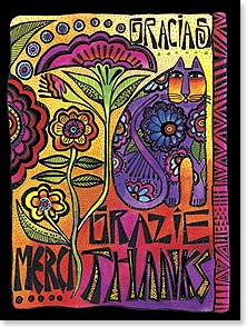 Thank You & Appreciation Card - Sometimes there aren't enough ways to say it! | Laurel Burch® | 44852 | Leanin' Tree