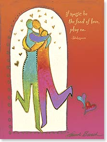 Anniversary Card - May the dance never end w/ Shakespeare | Laurel Burch™ | 44855 | Leanin' Tree