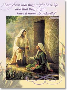 Easter Card - Wishing you Easter blessings w/ John 10:10 - 45039 | Leanin' Tree