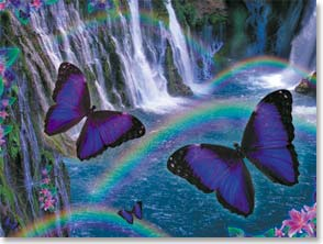 Blank Card - Butterflies and Waterfalls | Alixandra Mullins | 45726 | Leanin' Tree