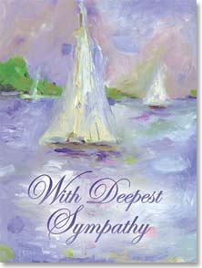 Sympathy Card - Quietly and gently, may healing come to comfor you. | Anne-Marie Esson | 45902 | Leanin' Tree