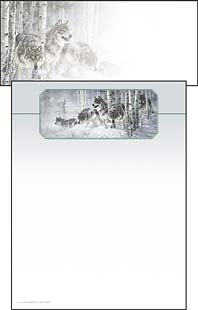 Stationery - Winter Wolves | Larry Fanning | 46034 | Leanin' Tree
