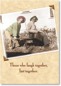 Valentine's Day Card - Laughing & Lasting: Psalm 34:3 | Maggie Mae Sharp | 4_2000164-P | Leanin' Tree