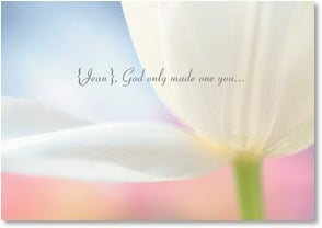 Loving Thoughts Card - God Made a Wonderful You; Isaiah 62:4 | Karin Connolly | 4_2001685-P | Leanin' Tree