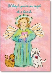 Valentine's Day Card - You're an angel of a friend. | Bee Sturgis | 4_2001752-P | Leanin' Tree